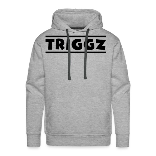 Triggz s Shirt Logo Black with Lines - Men's Premium Hoodie