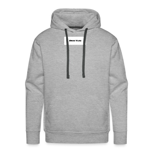 Bros Vlog Merch- White Background - Black wording - Men's Premium Hoodie