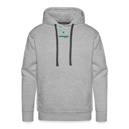 Lit DomDaBomb Logo For WHITE or Light COLORS Only - Men's Premium Hoodie