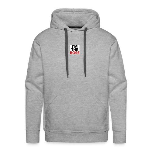 Im The Boss White Logo - Men's Premium Hoodie