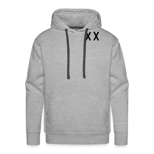MKI Black Logo with Grey/White - Men's Premium Hoodie