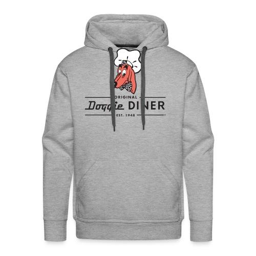 Doggie Diner Logo 1 with NO back color - Men's Premium Hoodie