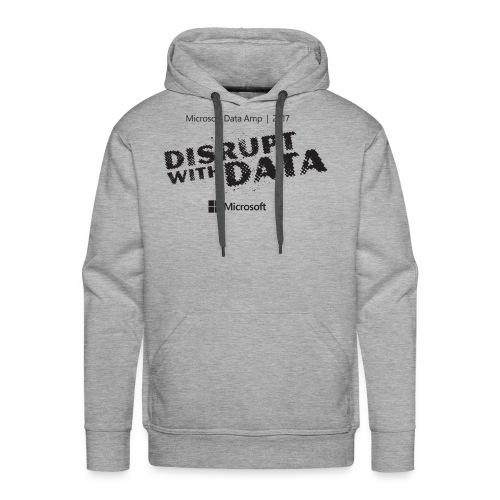 Disrupt with Data black on grey - Men's Premium Hoodie