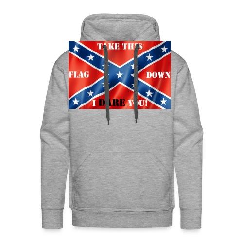 Confederate flag2 - Men's Premium Hoodie