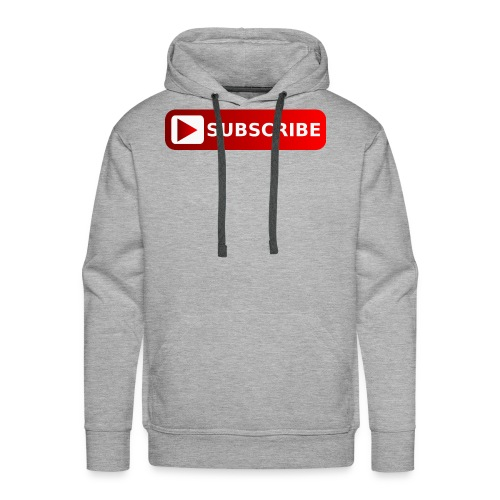 subscribe png youtube subscribe red png image 3935 - Men's Premium Hoodie