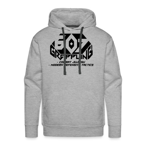 607 Grappling Black Logo - Men's Premium Hoodie