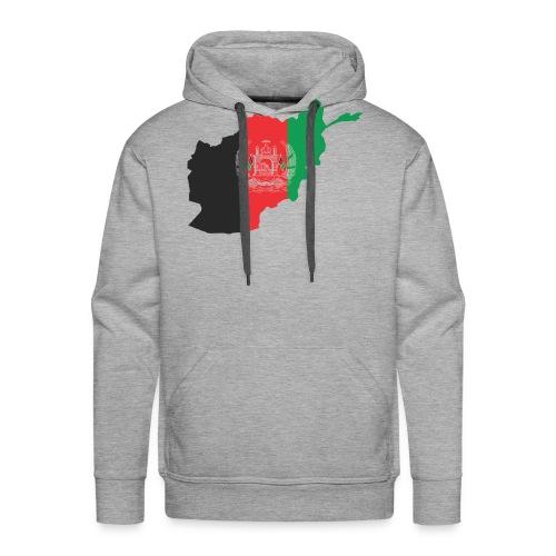 Afghanistan Flag in its Map Shape - Men's Premium Hoodie