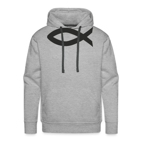 Christian fish symbol - Men's Premium Hoodie