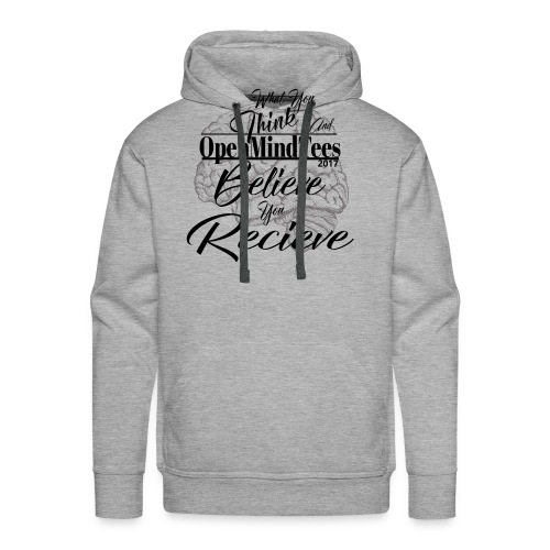OpenMindTees logo Law Of Attraction Affirmation - Men's Premium Hoodie