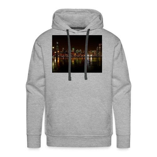 chicago skyline - Men's Premium Hoodie