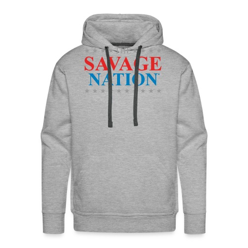 The Savage Nation Logo sch - Men's Premium Hoodie