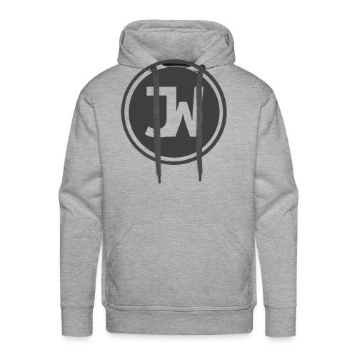 Grey Johannes With Logo - Men's Premium Hoodie