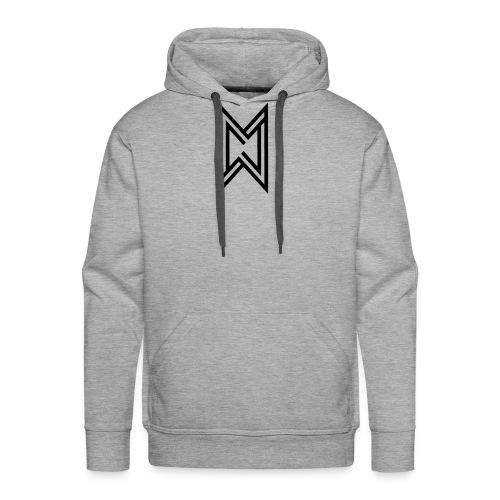 Black Logo White T-Shirt - Men's Premium Hoodie