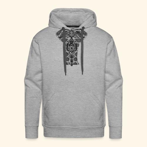 Mandala Elephant - Men's Premium Hoodie