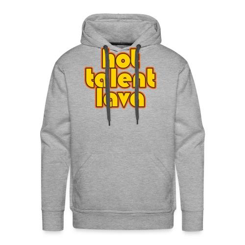 Hot Talent Lava - Yellow Letters - Men's Premium Hoodie