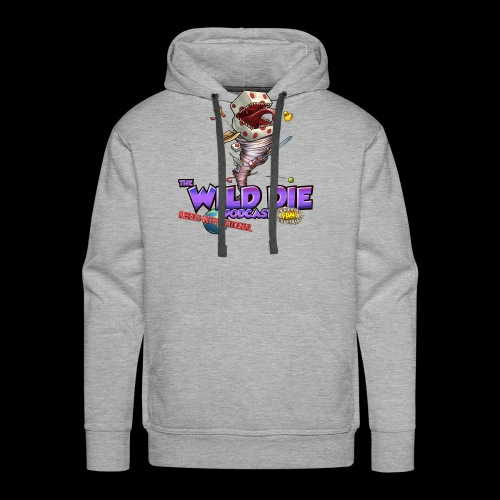The Wild Die Podcast with N-I logo - Men's Premium Hoodie