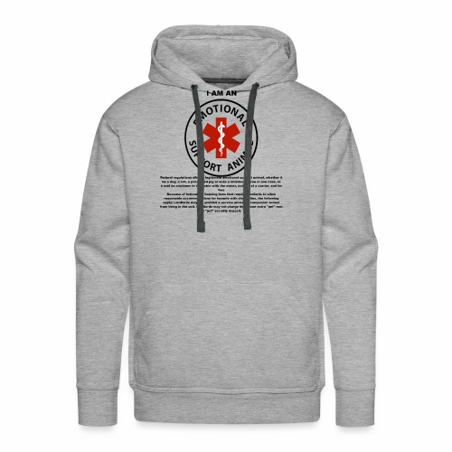 emotional support animal - Men's Premium Hoodie