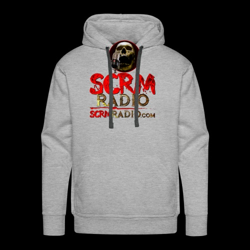 SCRM Radio Logo with Skull - Men's Premium Hoodie
