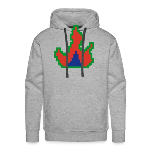 Cyber Blaze Design #1 - Men's Premium Hoodie