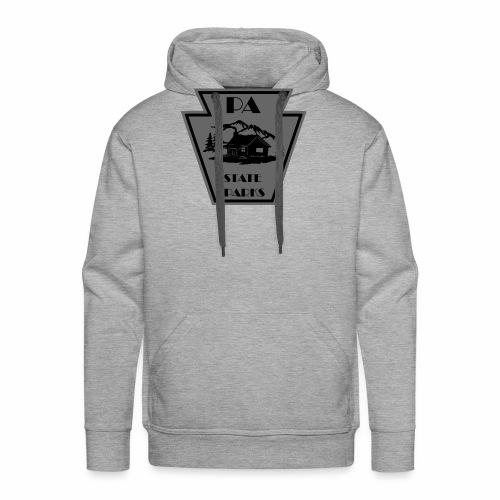 Keystone with Cabin Black and Grey - Men's Premium Hoodie