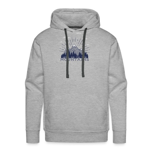 Adventure Mountains T-shirts and Products - Men's Premium Hoodie