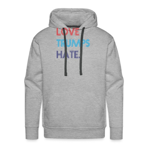 Love Trumps Hate Retro - Men's Premium Hoodie