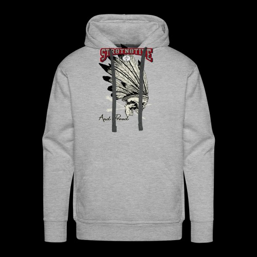 STRAIGHT NATIVE SKULL - Men's Premium Hoodie