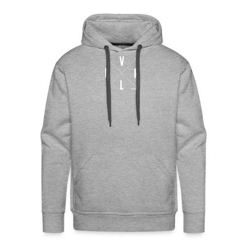 White Vall Co Cross Design - Men's Premium Hoodie