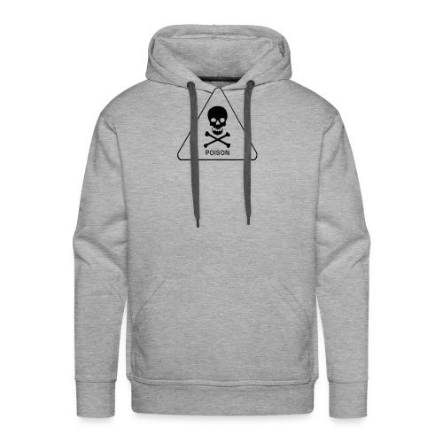 white tox symbol - Men's Premium Hoodie