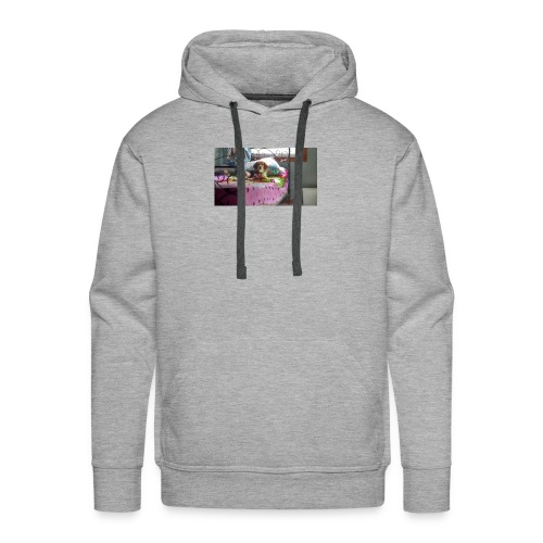 Sady laing on the bed - Men's Premium Hoodie