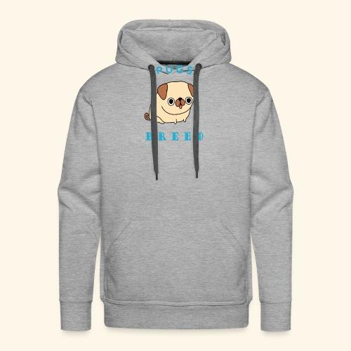 pug breed - Men's Premium Hoodie