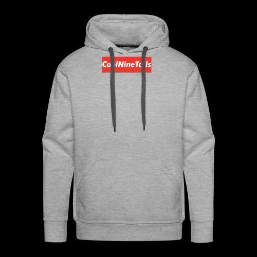 CoolNineTails supreme logo - Men's Premium Hoodie