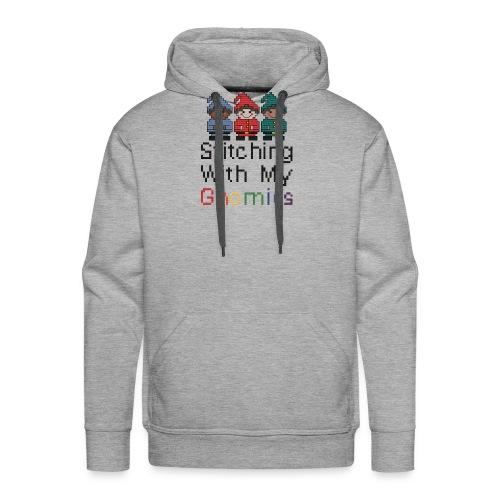 Stitching With My Gnomies - Men's Premium Hoodie
