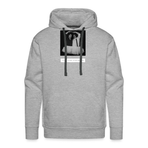 I'm the other other black and white - Men's Premium Hoodie