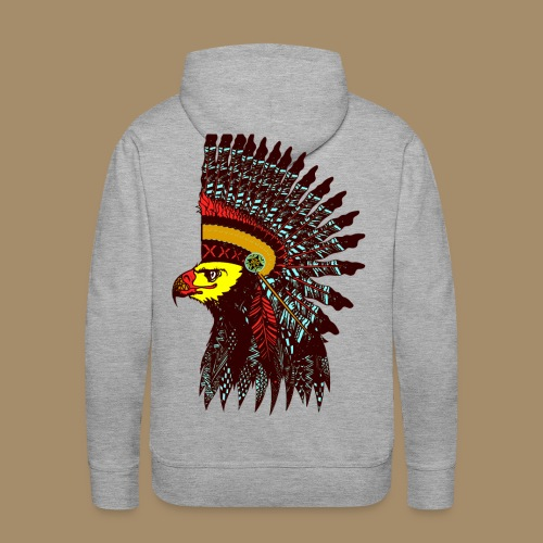 Tribal Eagle Totem with Headdress - Men's Premium Hoodie