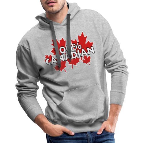 100% Canadian - Men's Premium Hoodie