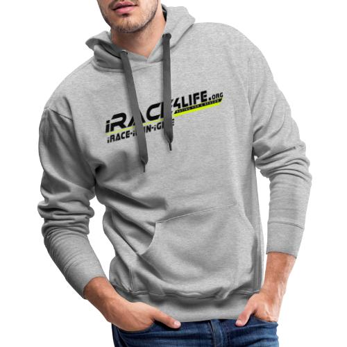 iRace4Life.org Logo with iRace-iWin-iGive! - Men's Premium Hoodie