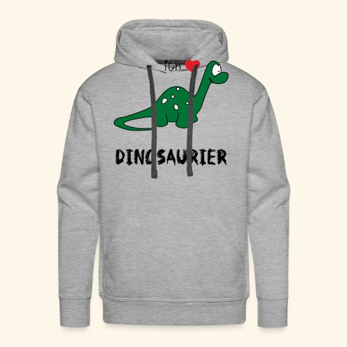 I love Dinosaurs - Men's Premium Hoodie
