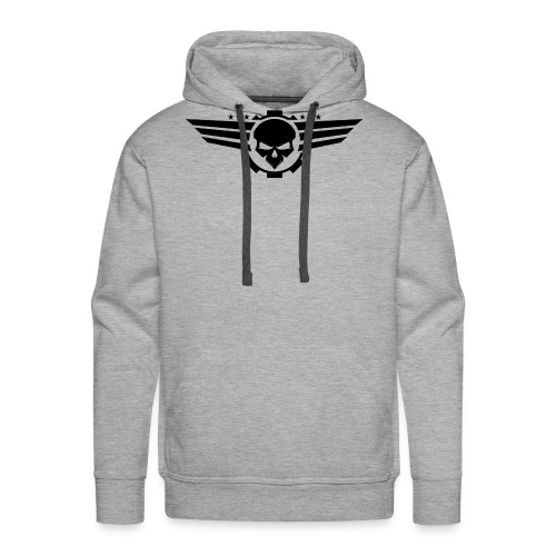 Skull With Wings - Men's Premium Hoodie