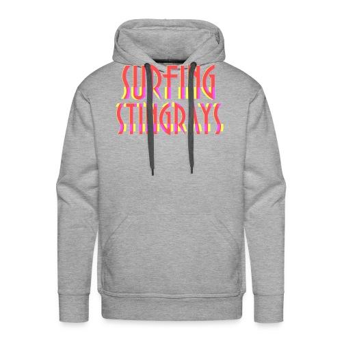 Surfing stingrays logo - Men's Premium Hoodie