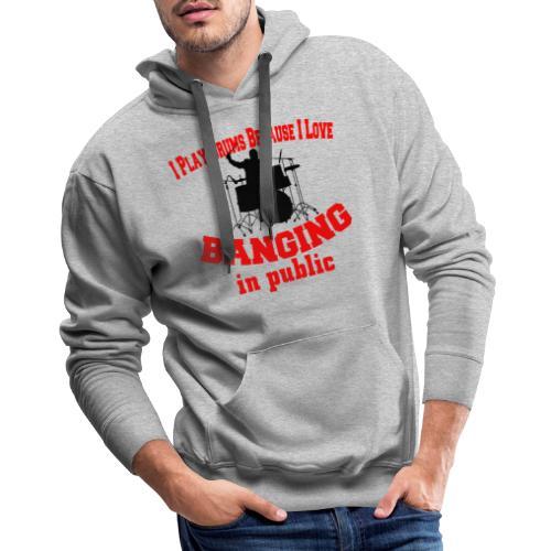 i play drums tshirt - Men's Premium Hoodie