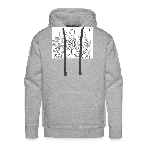 Why Dont We Outline In White - Men's Premium Hoodie