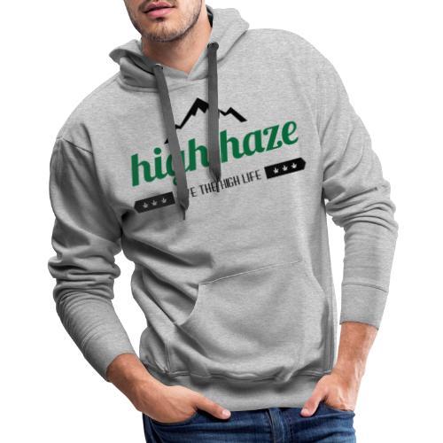 High Haze Logo (High Contrast) - Men's Premium Hoodie