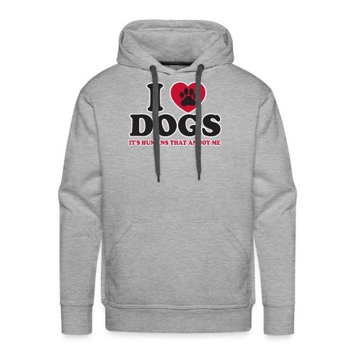 I LOVE DOGS - Men's Premium Hoodie