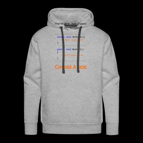 Code Styling Preference Shirt - Men's Premium Hoodie