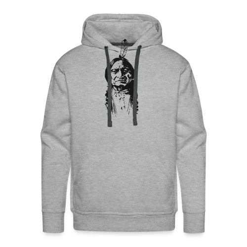 Vintage Indian Native American Funny - Men's Premium Hoodie