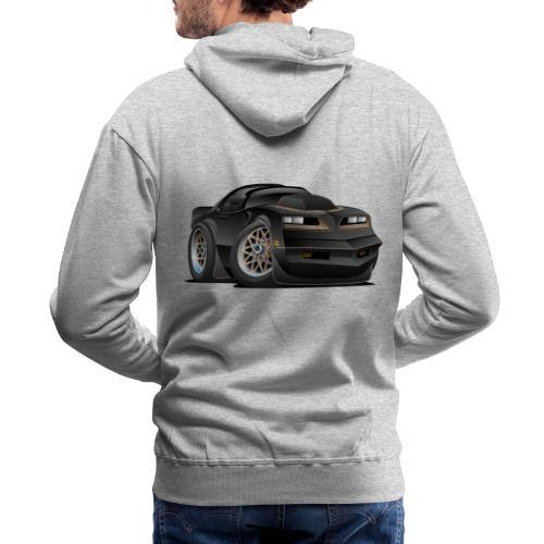 Seventies Classic Muscle Car Cartoon - Men's Premium Hoodie