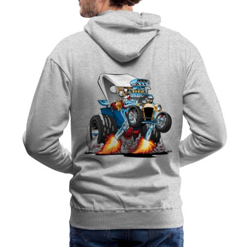 Custom T-bucket Roadster Hotrod Cartoon - Men's Premium Hoodie