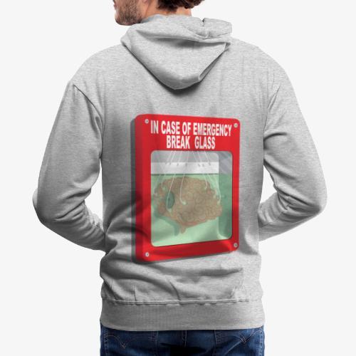 In case of emergency. Break glass and take a brain - Men's Premium Hoodie
