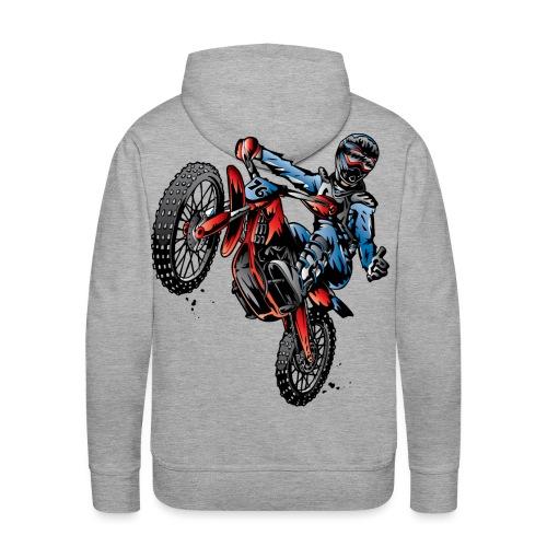 Motocross Dirt Bike Stunt Rider - Men's Premium Hoodie
